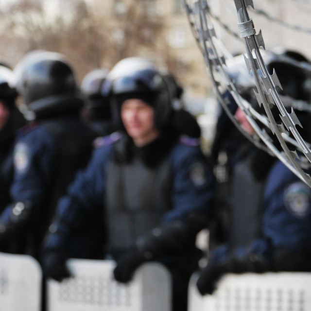 """Riot police. Donetsk. Ukraine 16-03-2014."" stock image"