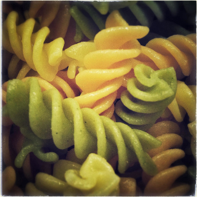 """""""Fusilly gluten free color pasta"""" stock image"""