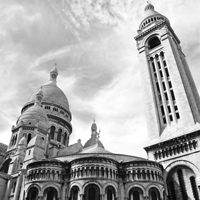 """""""Sacre-Coeur Basilica"""" stock image"""