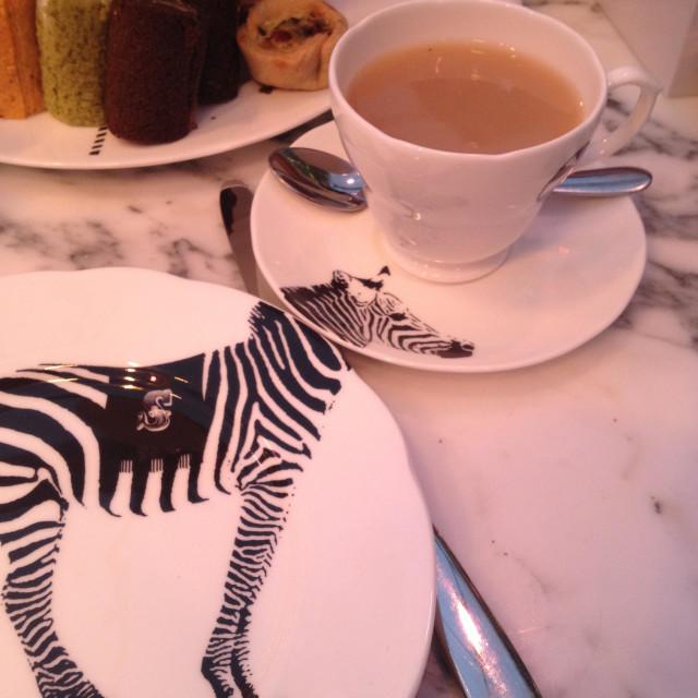 """Zebra crockery"" stock image"
