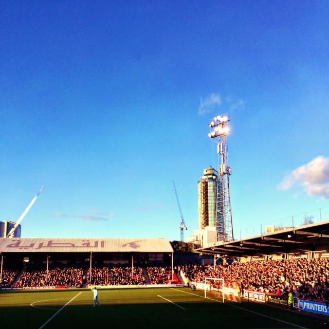 """""""Brentford FC Griffin Park"""" stock image"""