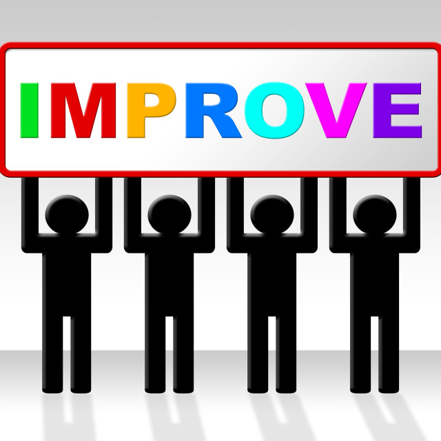 """Improve Improvement Indicates Growth Development And Advancing"" stock image"