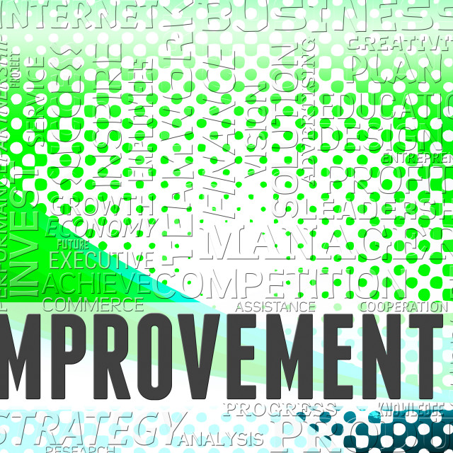 """Improvement Words Means Upgrading Grow And Growing"" stock image"