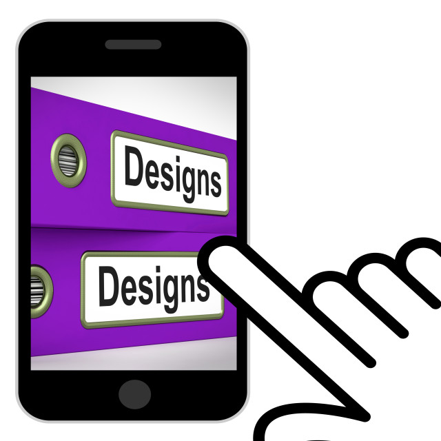 """""""Designs Folders Displays Style Of Product Or Publication"""" stock image"""