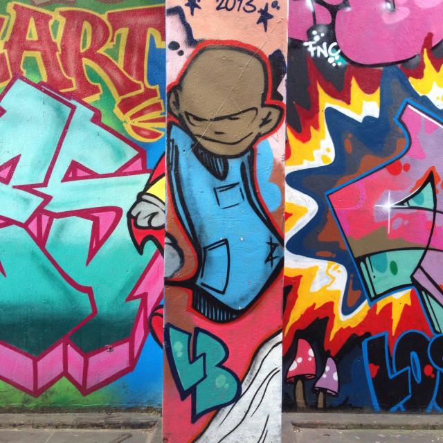 """""""Graffiti street art, Ladbroke Grove, London UK"""" stock image"""