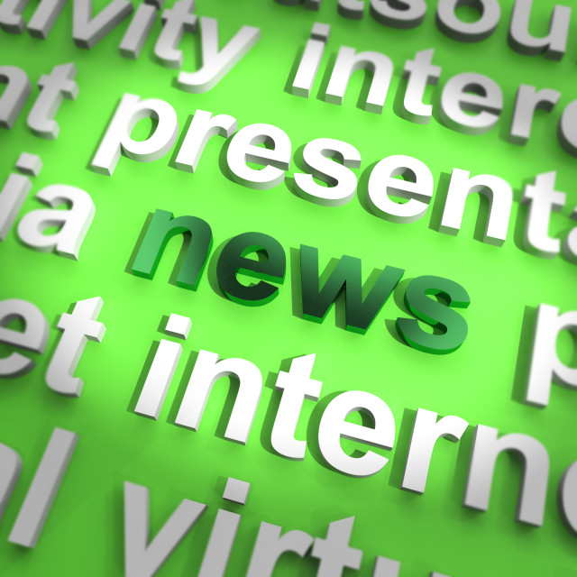 """News Word Showing Media Journalism And Information"" stock image"
