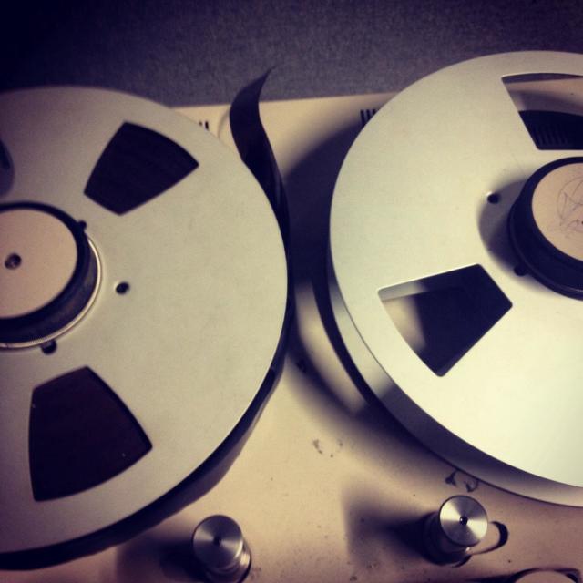 """Reel to reel tape recorder"" stock image"