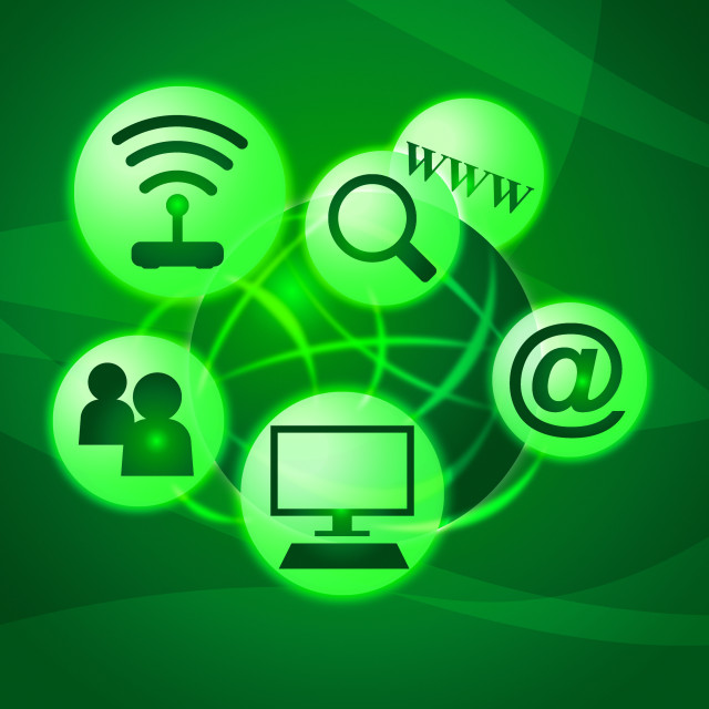 """""""Social Media Represents World Wide Web And Communication"""" stock image"""