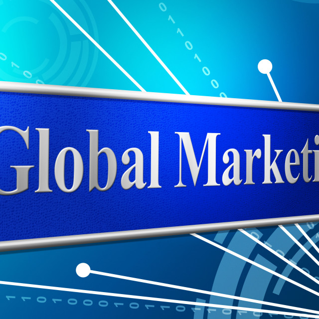 """Marketing Global Represents Globally Worldly And Globalise"" stock image"