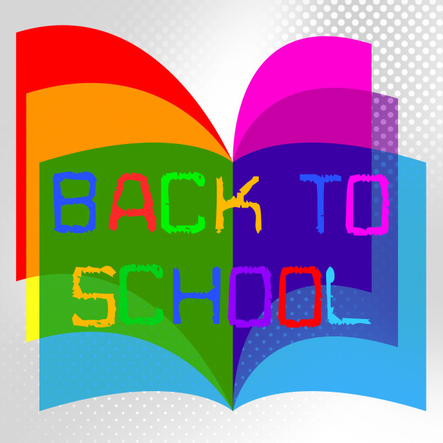"""Back To School Represents Educate Educated And Train"" stock image"