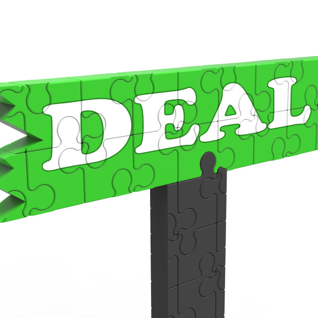 """""""Deal Means Bargain Promotion Or Agreement"""" stock image"""