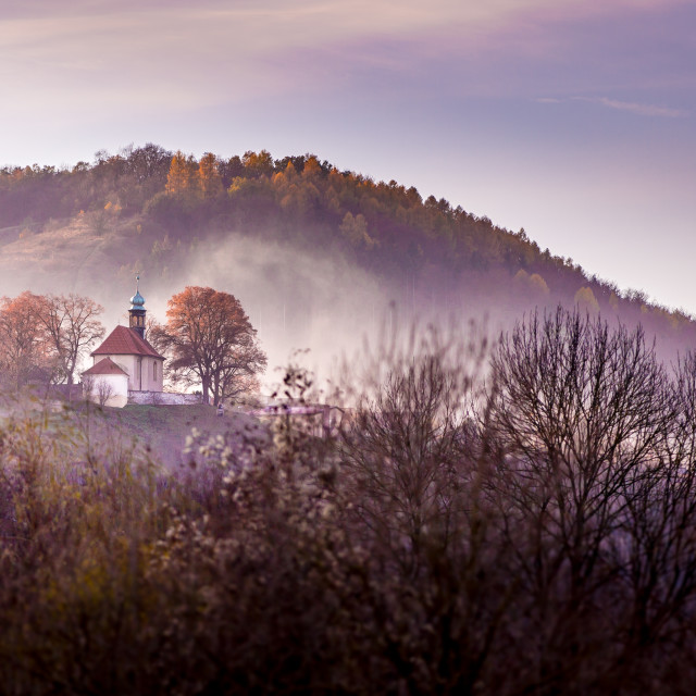 """Autumnal scene near Beroun, Czech Republic"" stock image"