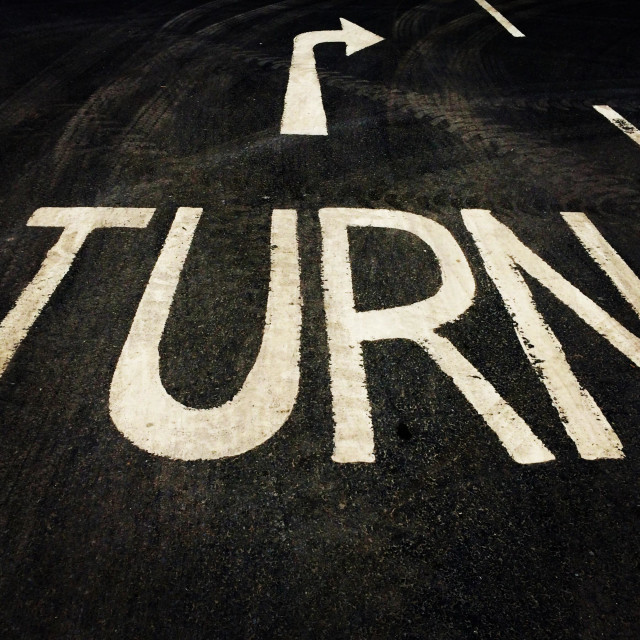 """Turn."" stock image"