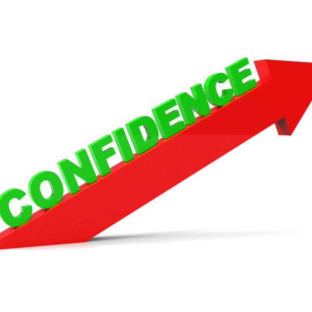 """Increase Confidence Shows Cool Poised And Self-Reliant"" stock image"
