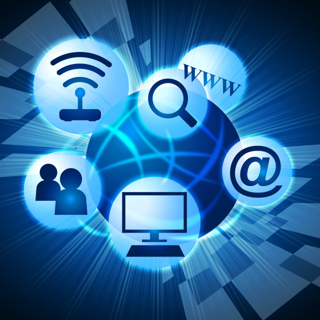 """""""Social Media Means World Wide Web And Communicate"""" stock image"""
