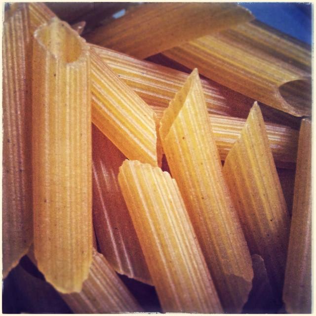 """Gluten free macaroni pasta close up"" stock image"
