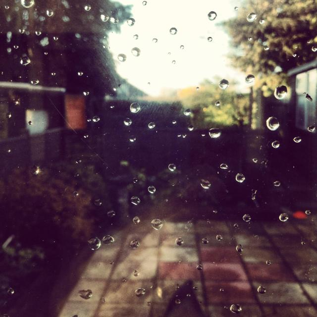 """Raindrops keep falling on my head"" stock image"