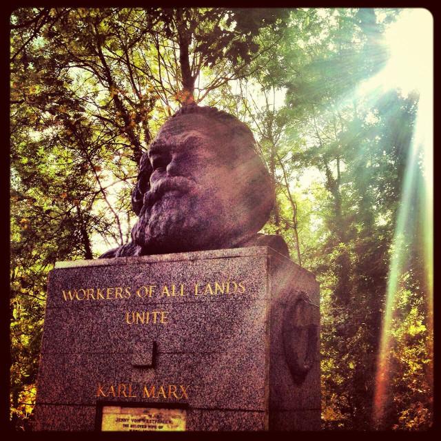 """Karl Marx tombstone"" stock image"