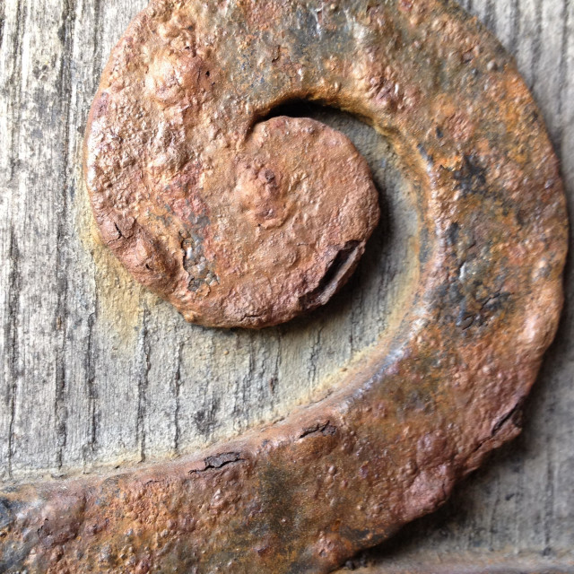 """""""Rust on an old door resembles the number two"""" stock image"""