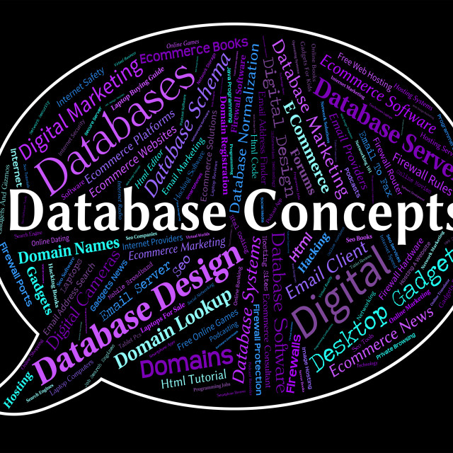 """""""Database Concepts Means Idea Invention And Ideas"""" stock image"""