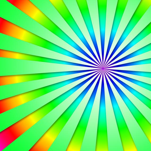 """Colourful Dizzy Striped Tunnel Background Shows Futuristic Dizzy Artwork."" stock image"