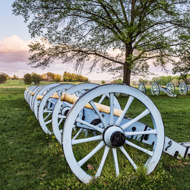 """Cannons, Artillery Park, Valley Forge, Pennsylvania, USA"" stock image"