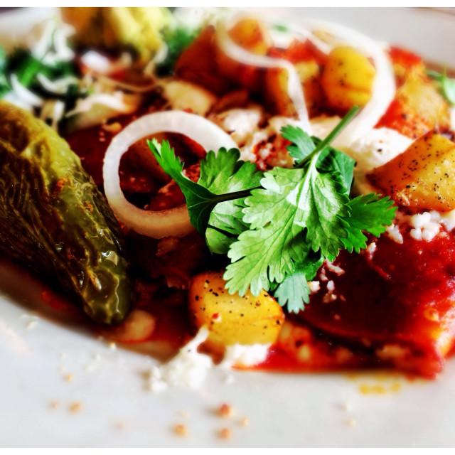 """""""Tex Mex Enchiladas"""" stock image"""
