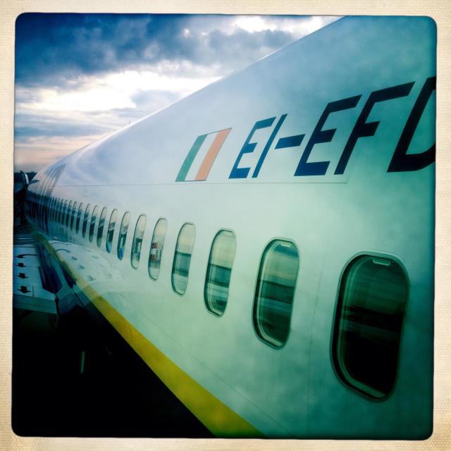 """Airplane fuselage"" stock image"