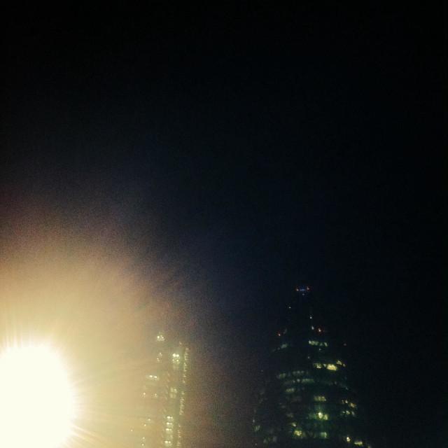 """Gherkin at night, London"" stock image"
