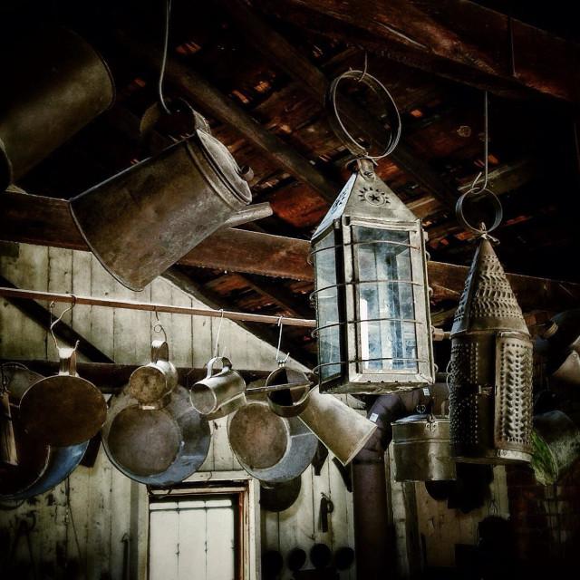 """Village Tinsmith Shop"" stock image"