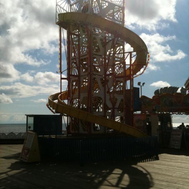 """Helter skelter on Blackpool pier"" stock image"