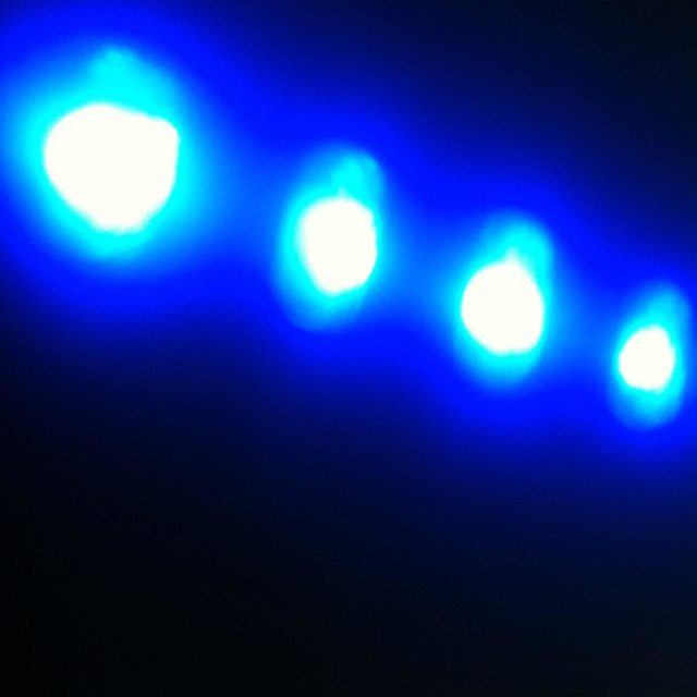 """""""Four mysterious glowing lights"""" stock image"""