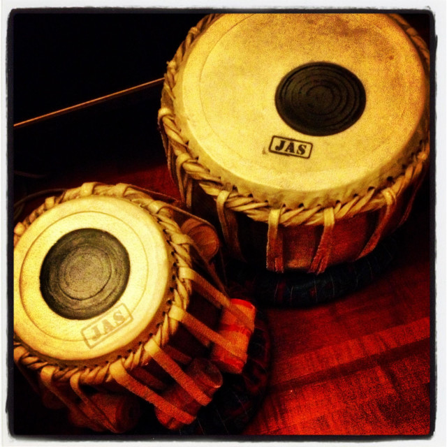 """""""Tabla, percussion instrument and Indian drums"""" stock image"""