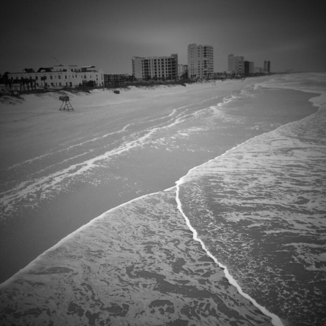"""Jacksonville Beach, Florida from the fishing pier"" stock image"