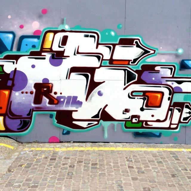 """Futura Graffiti, London W10 UK"" stock image"
