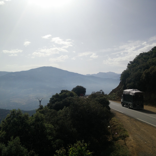 """Moroccan mountain road"" stock image"