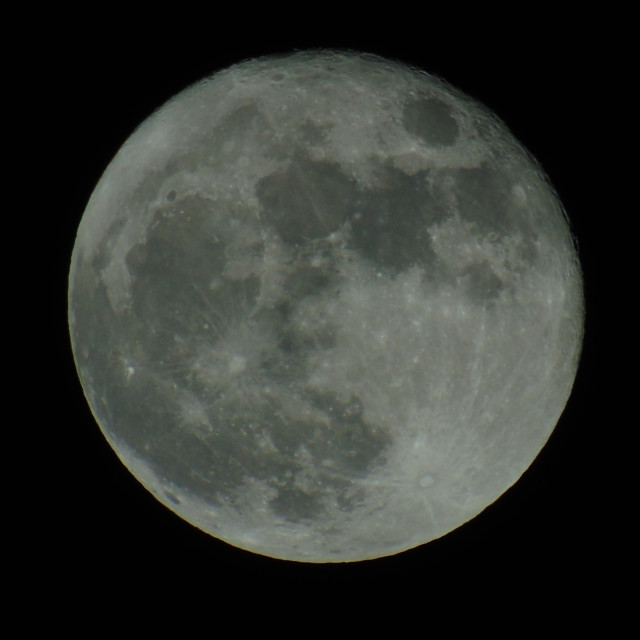 """Full Moon on Dec 14-2016"" stock image"