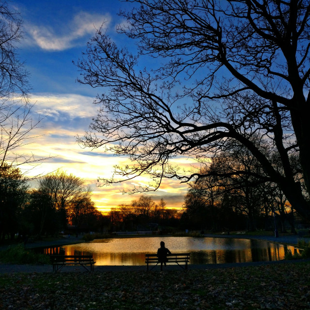"""Winter in Victoria Park, London"" stock image"