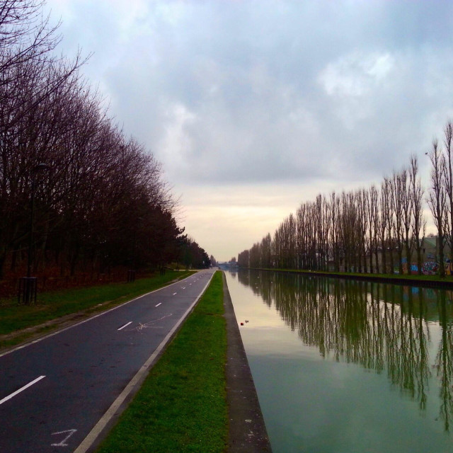 """Canal of Ourcq - France - Île de France"" stock image"