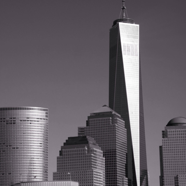 """""""New York skyline in black and white"""" stock image"""