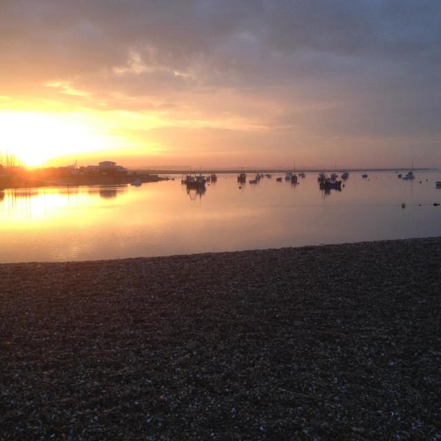 """River Deben Felixstowe Ferry, Suffolk, UK."" stock image"