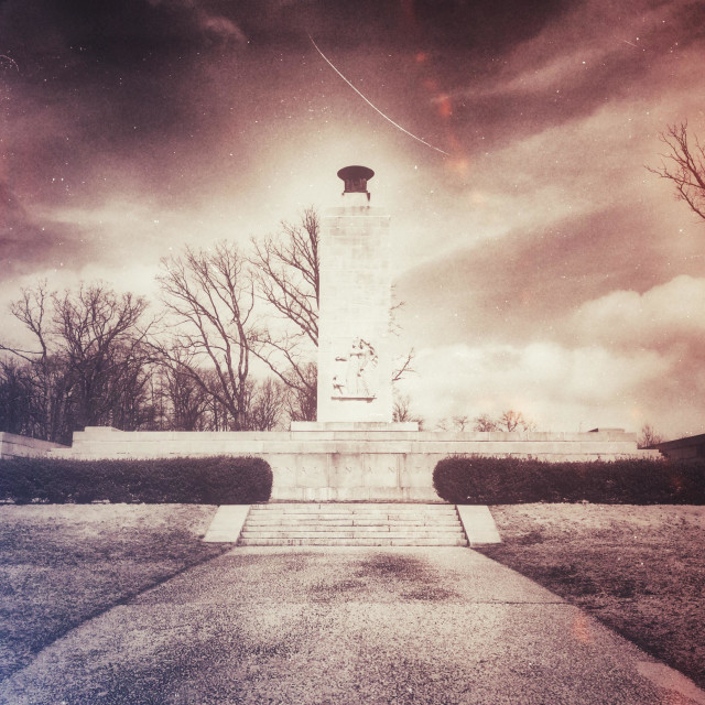 """Eternal Light Peace Memorial, Gettysburg Battlefield, Pennsylvania"" stock image"