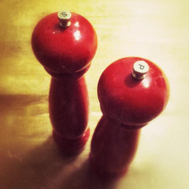 """Salt and pepper grinders"" stock image"