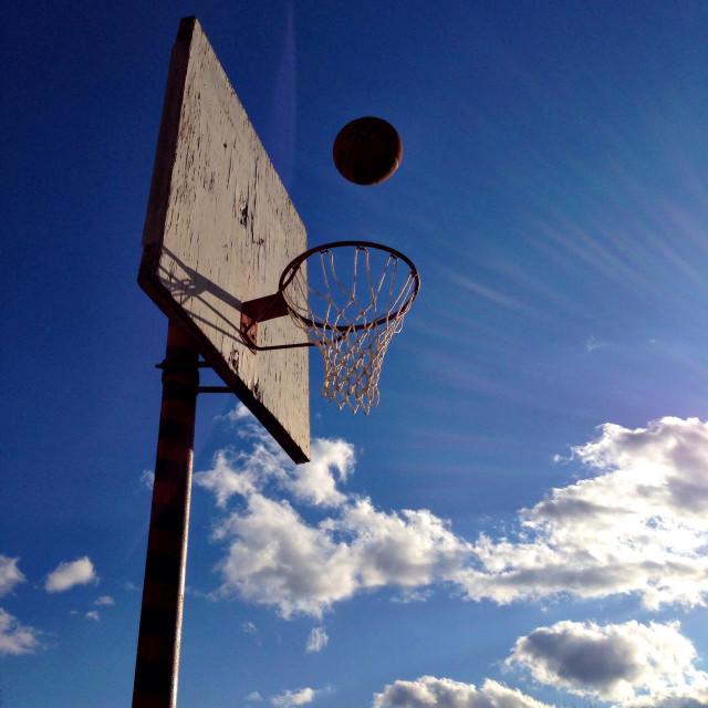 """""""Basketball hoop."""" stock image"""