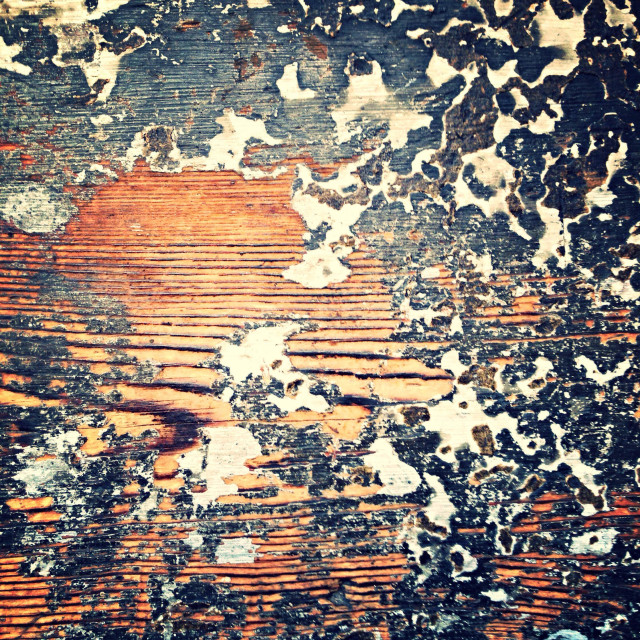 """""""Paint peeling from wood"""" stock image"""