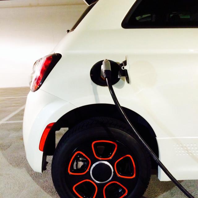 """Electric Vehicle Recharging"" stock image"