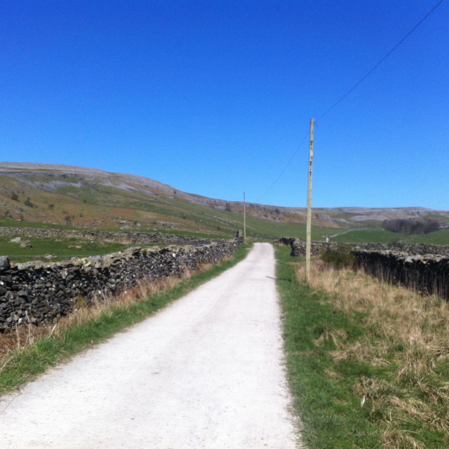 """""""Footpaths of The Yorkshire Dales"""" stock image"""