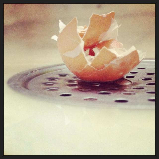 """""""Broken egg"""" stock image"""