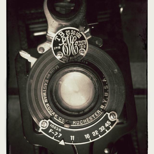 """Old vintage Kodak film camera"" stock image"