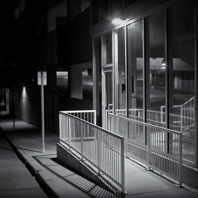 """""""Alley Light #1"""" stock image"""